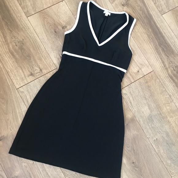 90s Black White Mini Dress